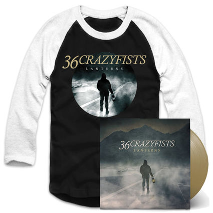 36 Crazyfists: Double Vinyl & Baseball Shirt Bundle