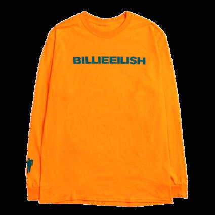 Billie Eilish: dont smile at me orange longsleeve tee