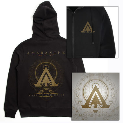 Amaranthe: Massive Addictive Black Hoodie & Double Vinyl Bundle