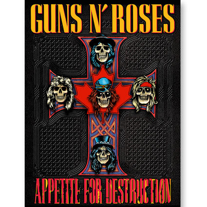 Guns N' Roses: Cross Redux Lithograph