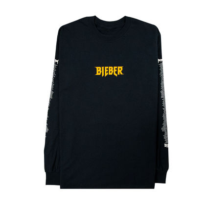 Justin Bieber: LS Photo Black Tee