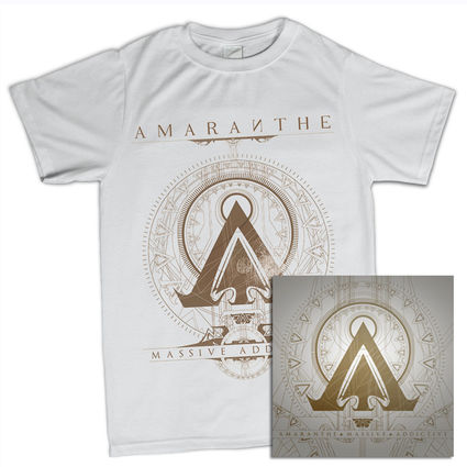 Amaranthe: Massive Addictive White Tee & Double Vinyl Bundle