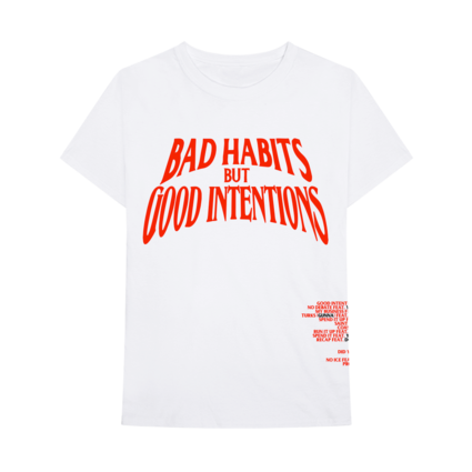 Nav: VLONE Bad Habits White Tee