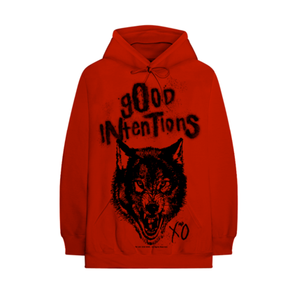 Nav: NWO Wolfpac Good Intentions Red Hoodie