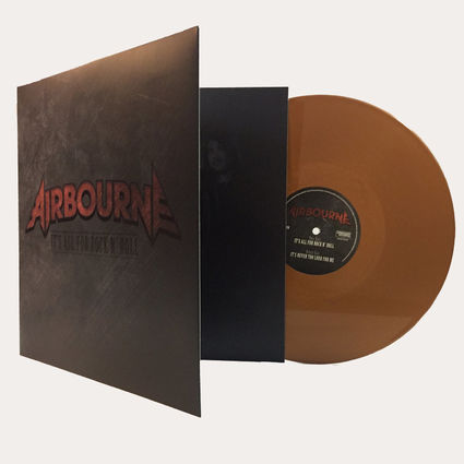 Airbourne: It's All For Rock N' Roll / It's Never Too Loud For Me 180gsm Bronze Vinyl