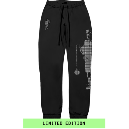 Billie Eilish: Leave Me Alone Rhinestone Sweatpants