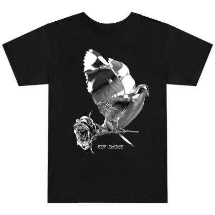Pop Smoke: Dove + Rose Black T-Shirt
