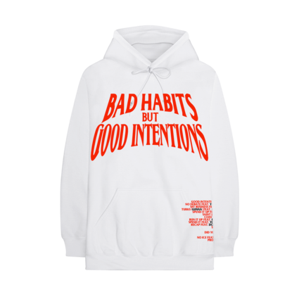 Nav: VLONE Bad Habits White Hoodie