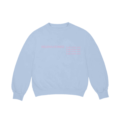 Selena Gomez : Look At Her Now Blue Crew Neck