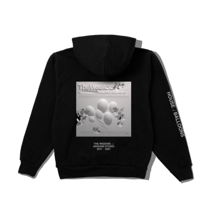 The Weeknd: DANIEL ARSHAM X THE WEEKND HOUSE OF BALLOONS ERODED COVER PULLOVER HOOD