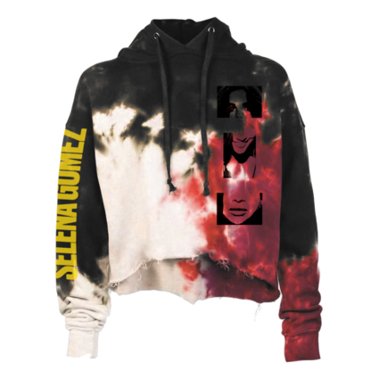 Selena Gomez : Lose You To Love Me Tie Dye Crop Hoodie