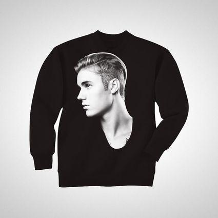 Justin Bieber: JB Profile Crewneck Black