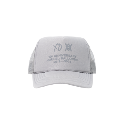 The Weeknd: DANIEL ARSHAM X THE WEEKND HOUSE OF BALLOONS ANNIVERSARY TRUCKER HAT