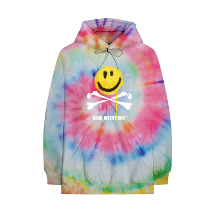 Nav: SMILE AND BONES TIE DYE HOODIE + DIGITAL ALBUM