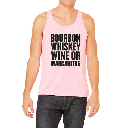James Barker Band: Bourbon Whiskey Wine or Margaritas Tank (Pink)