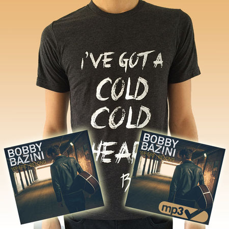 Bobby Bazini: Where I Belong (CD) + Download (MP3) + 'Cold Cold Heart' Mens Cotton Tee