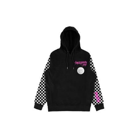 Yungblud: Checkered Sleeve Hoodie