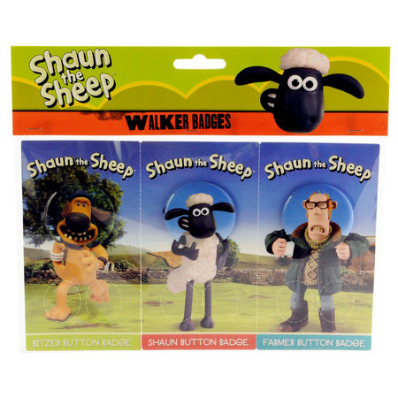 Shaun the Sheep: Shaun The Sheep Walker Badge Set