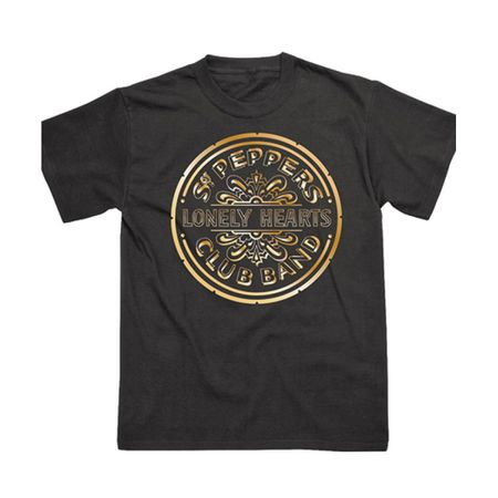 The Beatles: Sgt. Pepper 50th Anniversary Gold T-Shirt