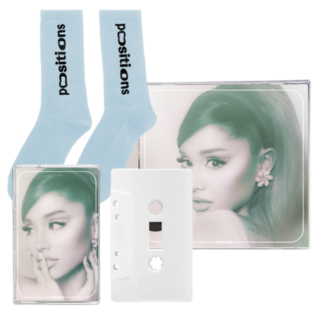 Ariana Grande: positions: socks, exclusive cd + frosted white cassette