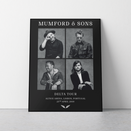Mumford & Sons : European Delta Tour Portrait Print 2019
