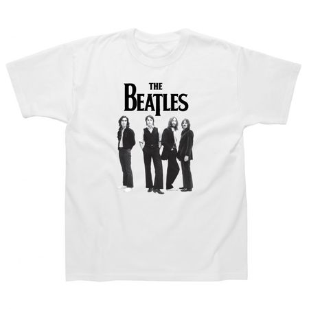 The Beatles: Standing T-Shirt White