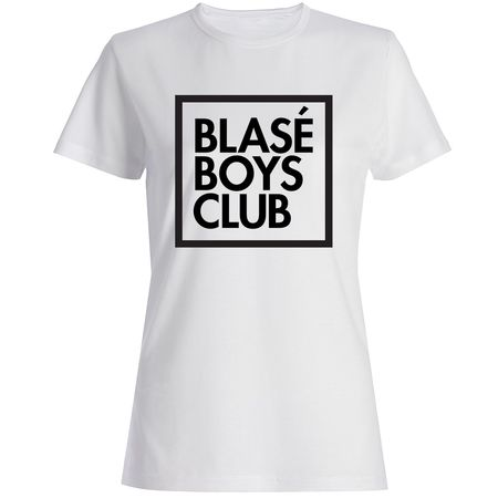 Blasé Boys Club: Blasé Boys Club Fitted White T-Shirt - Large