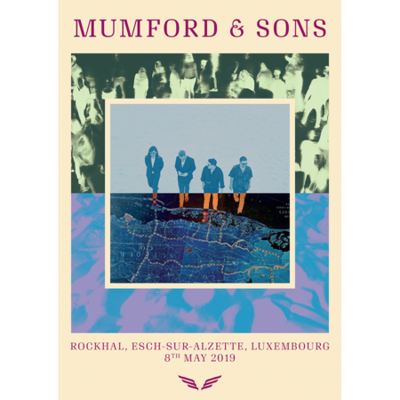 Mumford & Sons : European Delta Tour Print 2019 (Luxembourg)