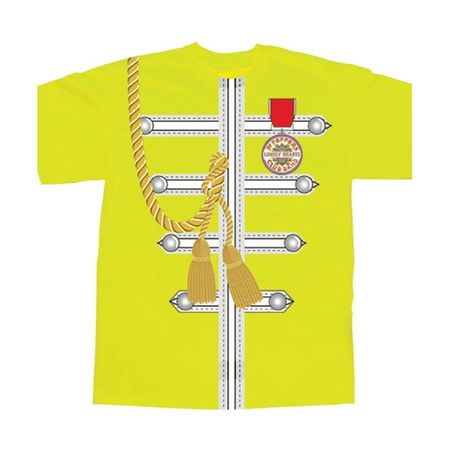 The Beatles: Yellow Sgt Pepper Uniform Sublimation T-Shirt
