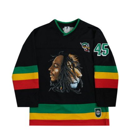 Bob Marley: Profiles Hockey Black Jersey