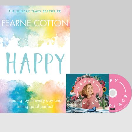 Various Artists: Happy Place CD, Signed Artcard & Book Bundle