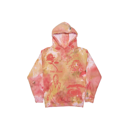 Shawn Mendes: THE TOUR SKETCH TIE DYE HOODIE - XL