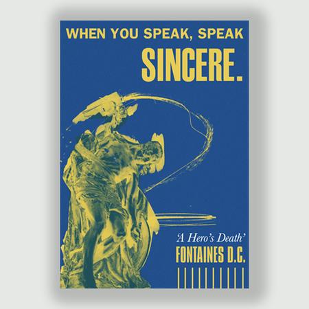 Fontaines D.C.: Speak Sincere: Signed A3 Lyric Print