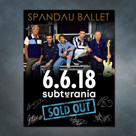 Spandau Ballet: Spandau Ballet Signed Subterania collectors print