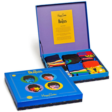The Beatles: Happy Socks Gift Box 6 Pack Small/Medium