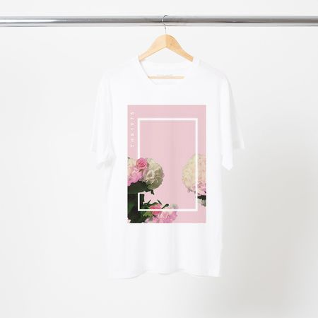 The 1975: PINK FLORAL T-SHIRT