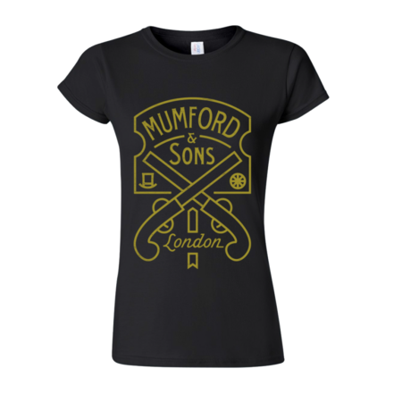 Mumford & Sons : Pistol Label Ladies T-shirt