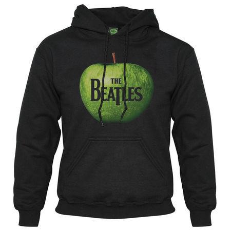 The Beatles: Hooded Top: Apple (Black)