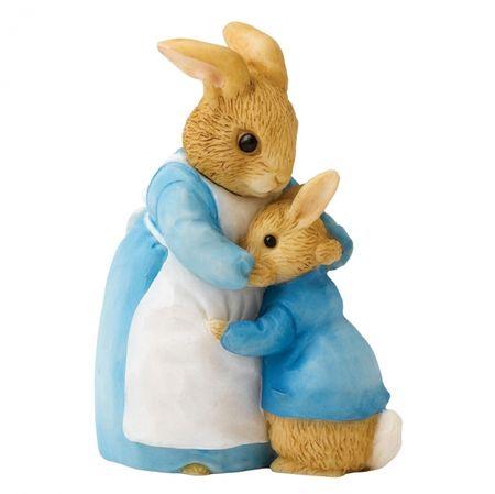 Peter Rabbit: Mrs Rabbit & Peter - 7.5cm Miniature Figurine
