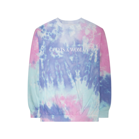 Ariana Grande: GOD IS A WOMAN TIE DYE CREWNECK - S
