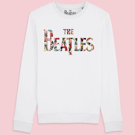 The Beatles: Exclusive Flowered Logo Woman's Sweatshirt