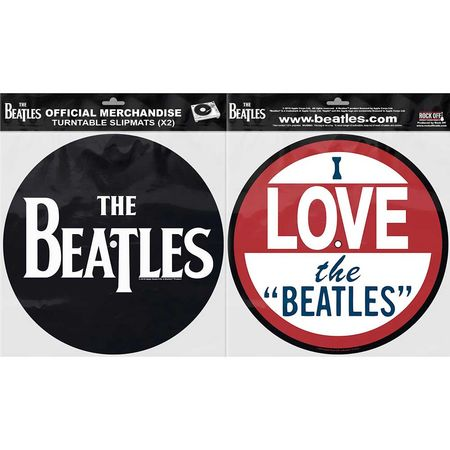 The Beatles: Turntable Slipmat Set: Drop T Logo & Love