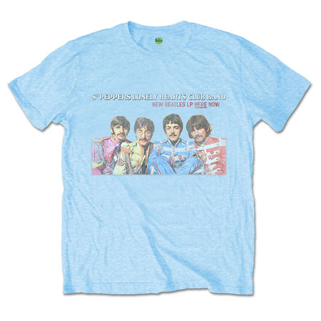 The Beatles: The Beatles LP Here Now Mens Blue T-shirt
