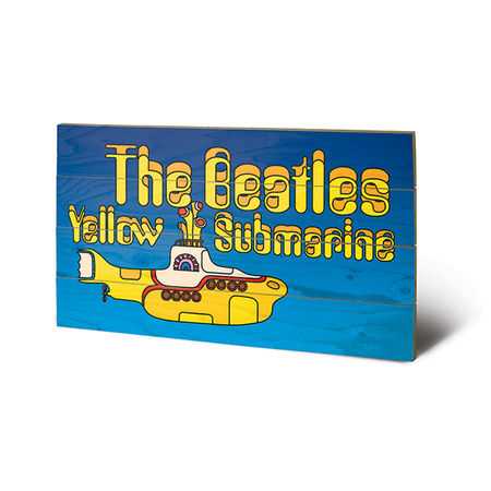 The Beatles: The Beatles - Yellow Submarine Wooden Print Small
