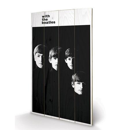 The Beatles: The Beatles - With The Beatles Wooden Print Small
