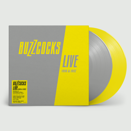 Buzzcocks: Live 1990 & 1992: Limited Edition Grey + Yellow Vinyl