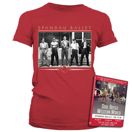 Spandau Ballet: Vintage Band Antique Cherry Womens T-Shirt & DVD