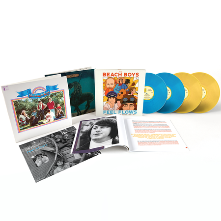 The Beach Boys: Feel Flows: The Sunflower & Surf's Up Sessions 1969-1971: Exclusive Translucent Blue + Yellow Vinyl 4LP