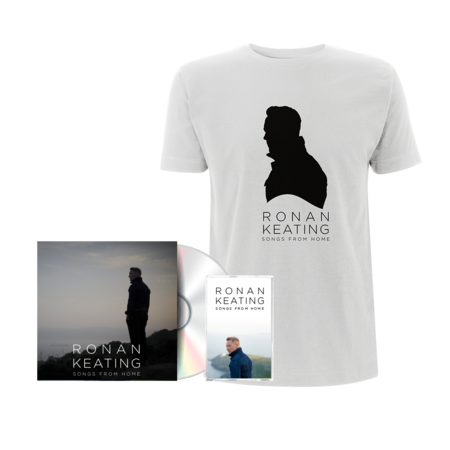 """Ronan Keating: Signed """"From Home"""" Version CD + Cassette + White Tee"""