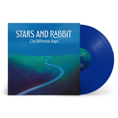 Stars and Rabbit: On Different Days: Recordstore Exclusive Blue Moon Vinyl LP + Signed Art Print